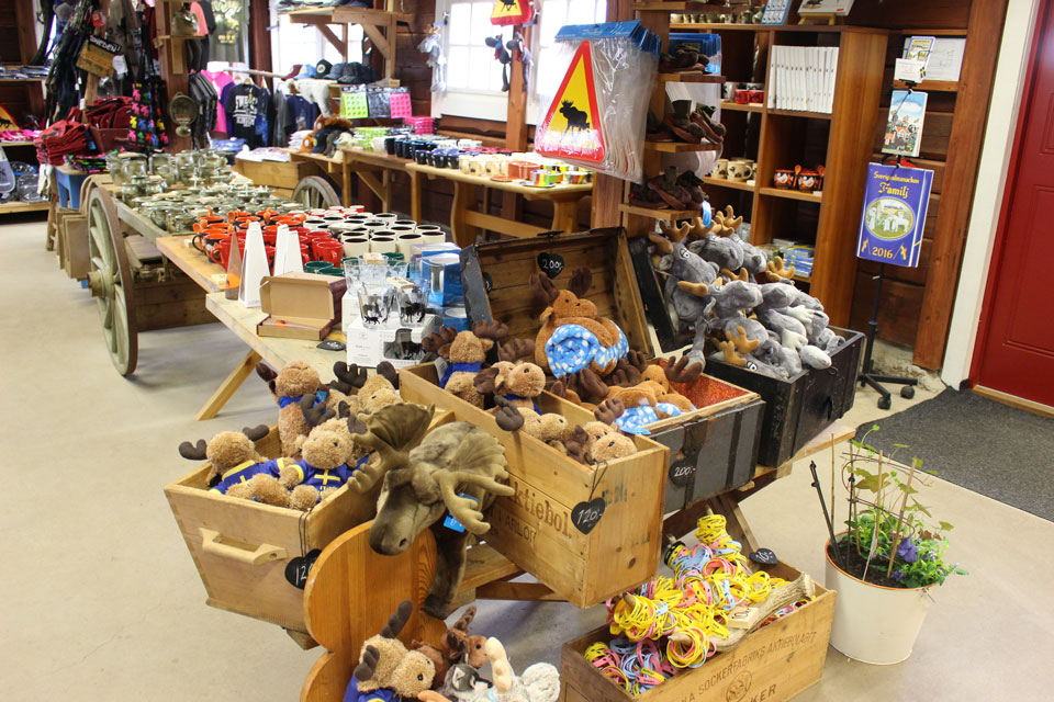 Souvenirs in the store of our moose park